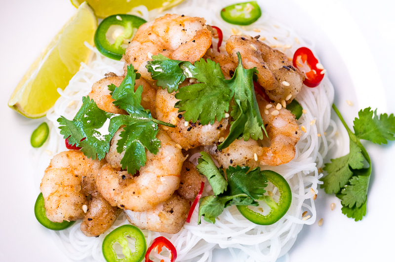 Chilli Salt Prawns