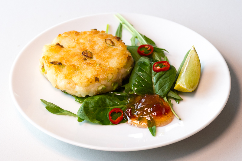 Smoked Haddock Fishcakes and Ravida Fiore di Sale
