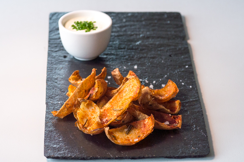 Potato Skins with Smoked Paprika and Ravida Sea Salt