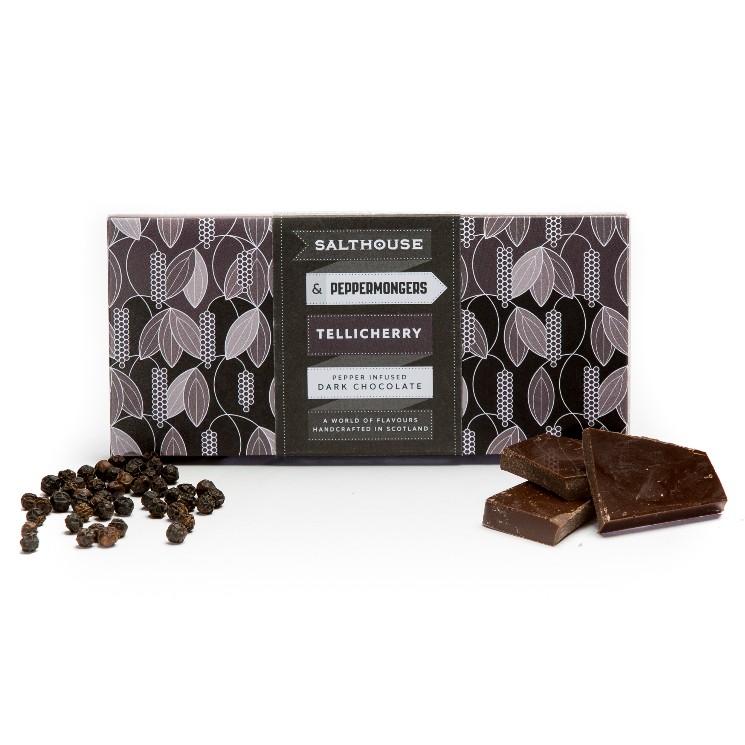 Dark chocolate bar with Tellicherry