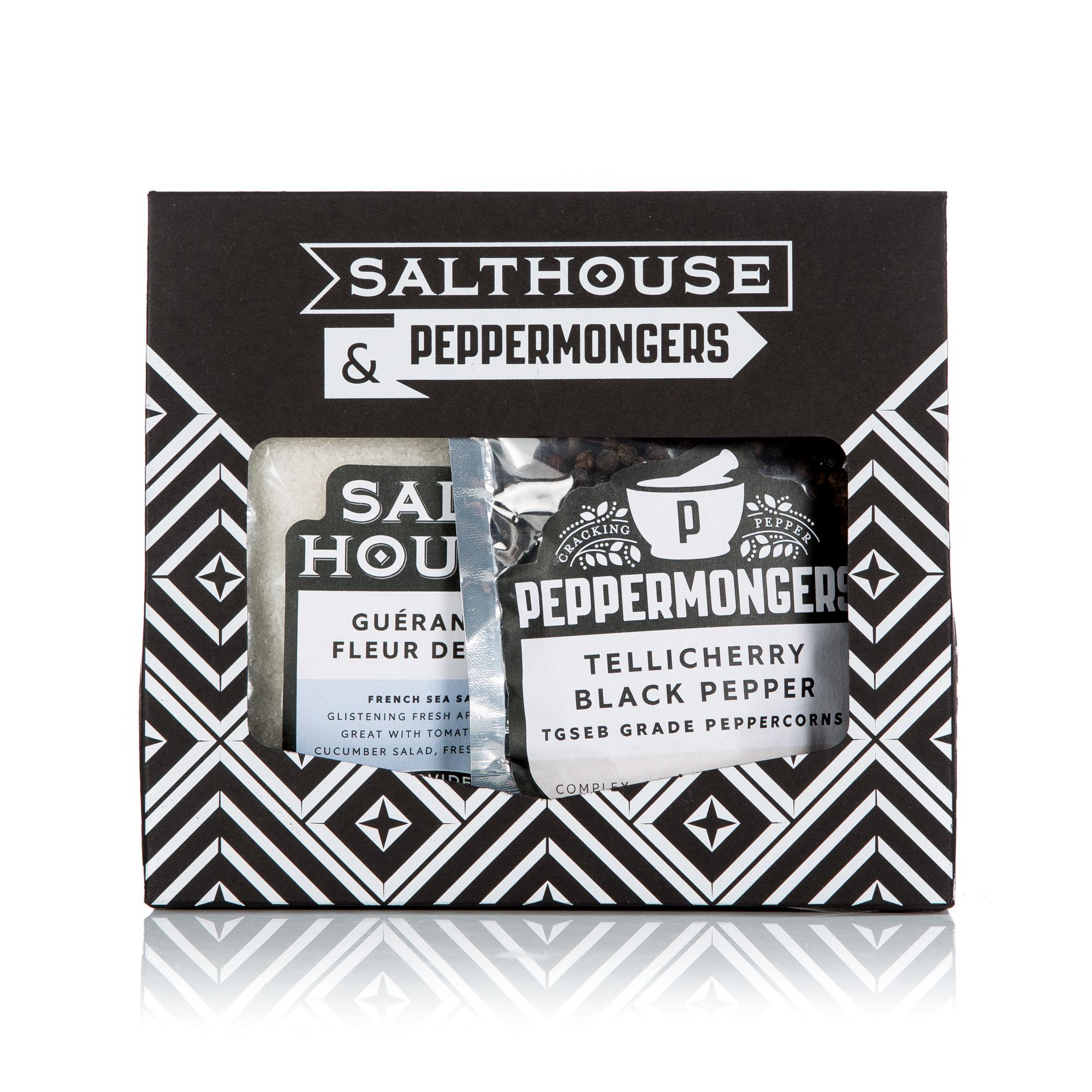 Fleur de Sel & Tellicherry Black Pepper Gift Set
